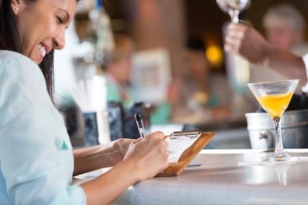 tipping bartender