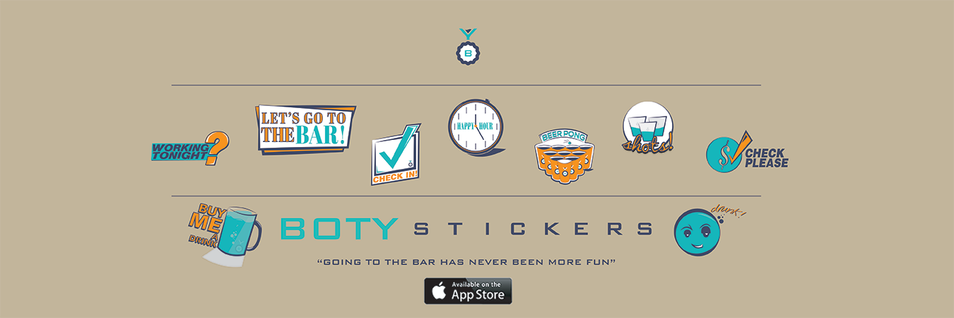 BOTY Bar Stickers