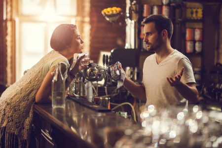friendly bar patron